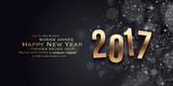Happy New Year 2017 - Vector cmyk