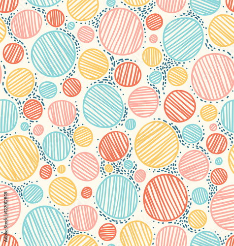 Cotton fabric Color dotted abstract seamless pattern