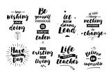 Inspirational quotes set.