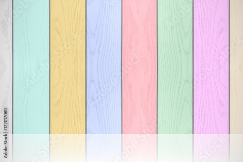 Colorful pastels wood texture horizontal background.