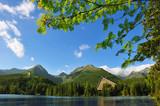 Lake Strbske Pleso in the National Park High Tatra
