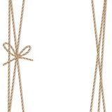 Background with rope bow and ribbons - 122025478