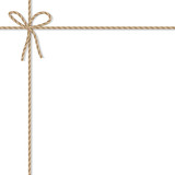 Background with rope bow and ribbons - 122025612