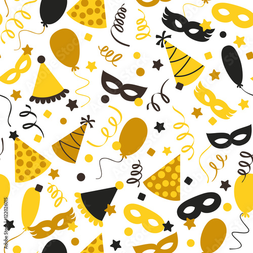 Cotton fabric Carnival seamless pattern