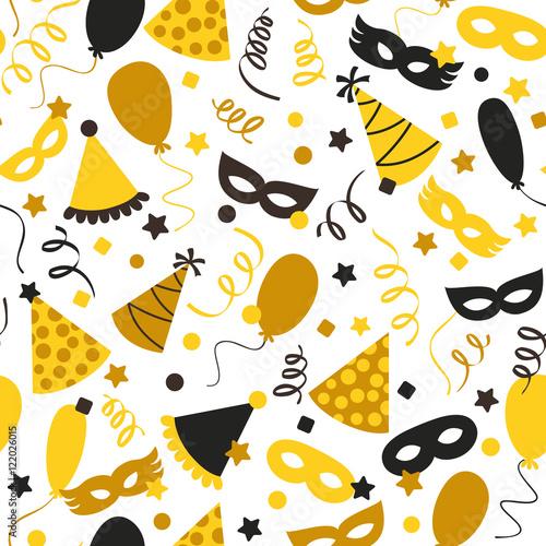 Cotton fabric Carnival seamless pattern