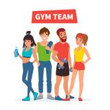 Fototapety Gym team