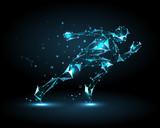 Abstract man running...
