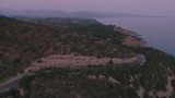 Island road / Aerial video - Greece
