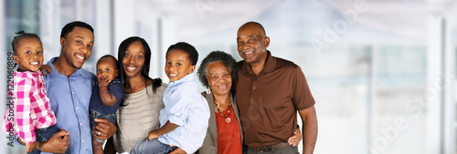 Senior Married Couple With Family