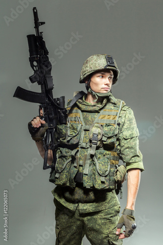Poster Russian soldier