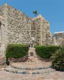 Statue of Junipero Serra at Mission San Juan Capistrano in California