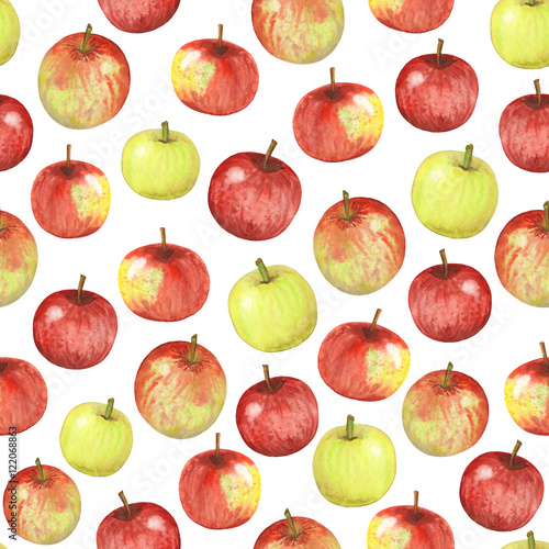 seamless watercolor apples - 122068863