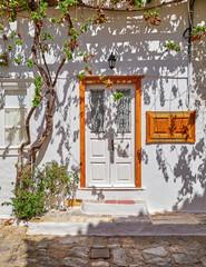 Greece, vintage wooden door