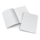 catalog or magazine isolated on white - 122083828