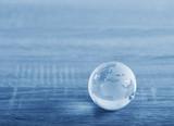 World glass sphere