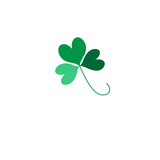 Green Shamrock leave icon