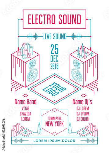 Electro sound poster