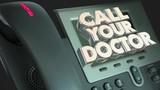 Call Your Doctor Phone Medical Help Advice Health 3d Animation