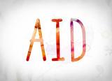 Aid Concept Watercolor Word Art