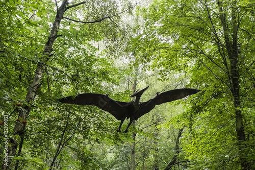 Plastic Mannequin flying carnivorous dinosaur Pteranodon. Plakat