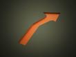 Orange arrow business concept rendered