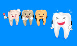cute tooth character expression set, great illustration for your design