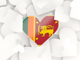 Flag of sri lanka, heart shaped stickers