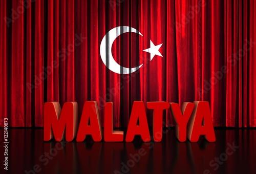 Papiers peints Rouge traffic malatya, türk bayrağı, tiyatro sahnesi