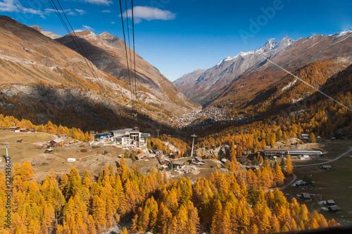 Foto op Canvas Natuur Autumn Panorama to Zermatt, Alps, Switzerland