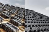 Dachziegel auf dem Dach - 122151843