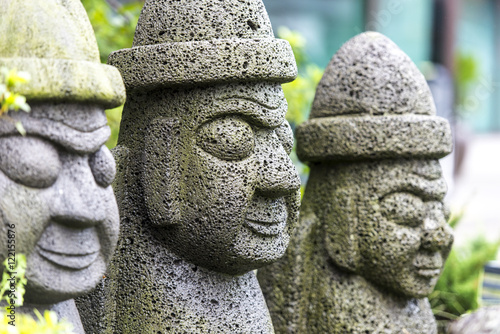 Poster Stone idol - hareubang on Jeju island in South Korea