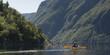 Kayaking in Gros Morne National Park, Trout River Pond, Newfound