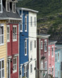 Colorful row houses in St. John's, Newfoundland and Labrador, Ca