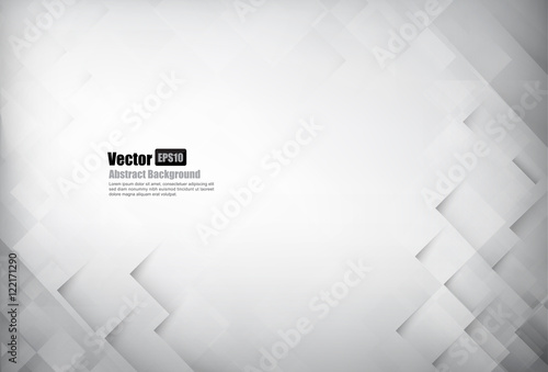 Abstract background light grey with basic geometry element vecto