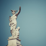 Mercury, the Roman God, at the top of the Galeria Emporium, former Mercure Center (1903), Ljubljana, Slovenia