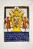 Recuerdo de una visita del rey Alfonso XIII, Córdoba, Andalucía, España