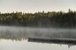 Boardwalk in a lake, Riding Mountain National Park, Manitoba, Ca