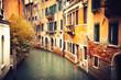 Narrow canal in Venice, Italy