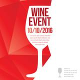 Fototapety Design for wine event.