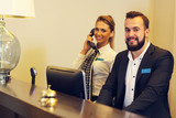 Receptionists at work