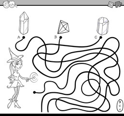 path maze task coloring page