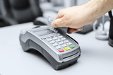 Credit and debit card shopping password payment.