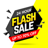 24 Hour Flash Sale banner, save up to 70%.