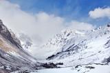 paysage de montagne enneigée