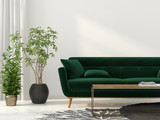 Fototapety Living room with green sofa