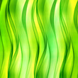 Beautiful green wave background for design. Modern abstract motion bright digital illustration.