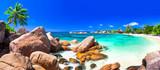 Fototapety most beautiful tropical beaches - Seychelles ,Praslin island