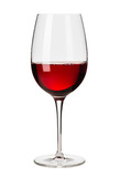 Glass of Red Wine on White - 122267493