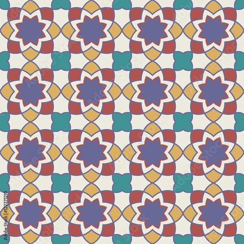 Staande foto Kunstmatig Gorgeous Seamless Arabic Tile Pattern Design. Islamic Wallpaper or Background.