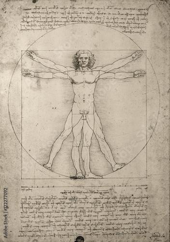 Poster Zeichnung Leonardo da Vinci